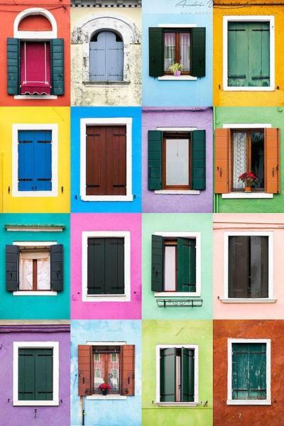 charmantes fenêtres colorées
