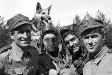 Four tank men and a dog. - An old war movie - but very liked.