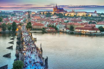 Charles bridge in Prague. - Charles bridge in Prague Czech.