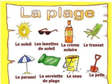 Plage - Prosty leksykon po francusku na plaży