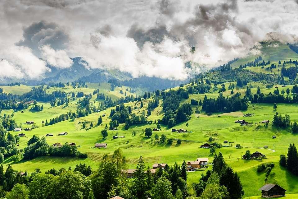 Hegyvidéki táj, Svájc (10×10)