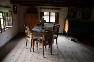 In an old cottage - The interior of an old cottage located in the Museum of the Opole Village