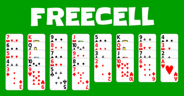 Game freecell puzzle games - green felt freecell, freecell, puzzle