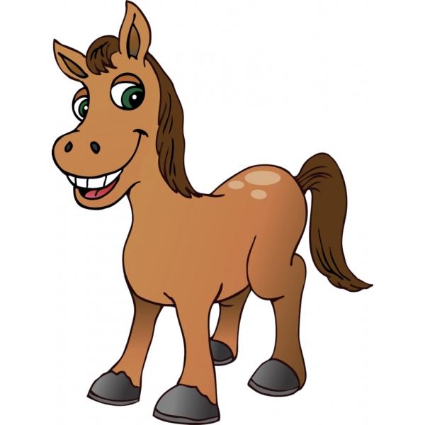 quebra-cabeça cavalo - desenho infantil de um cavalo (3×3)