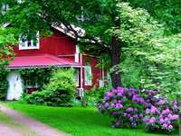 Domek z ogrodem
