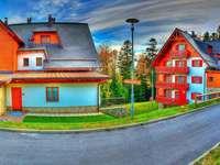 αρχιτεκτονική - πολύχρωμο παζλ