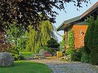 Hinterhof-Garten.