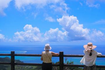 View of the Pacific. - View of the Pacific. Japan. Ishigaki Islands.