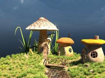 extremely - mushroom dwarf houses