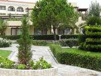 Hôtel à Chalcidique - Un hôtel dans la verdure sur la péninsule de Halkidiki.