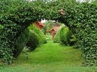 Entrée au jardin. - Entrée au jardin vert.