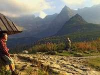 Reste sur la piste. - Reste sur la piste. Montagnes Tatra.
