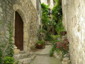Village français des Cévennes. - Un village médiéval en France.