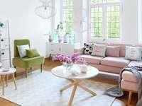 Färgglada vardagsrum