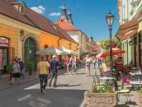 Una strada a Eger. Ungheria.