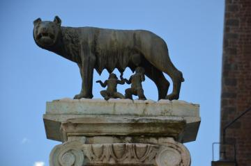 Capitoline Wolf - She-wolf nursing Romulus and Remus, the founders of Rome. Capitol // Rome