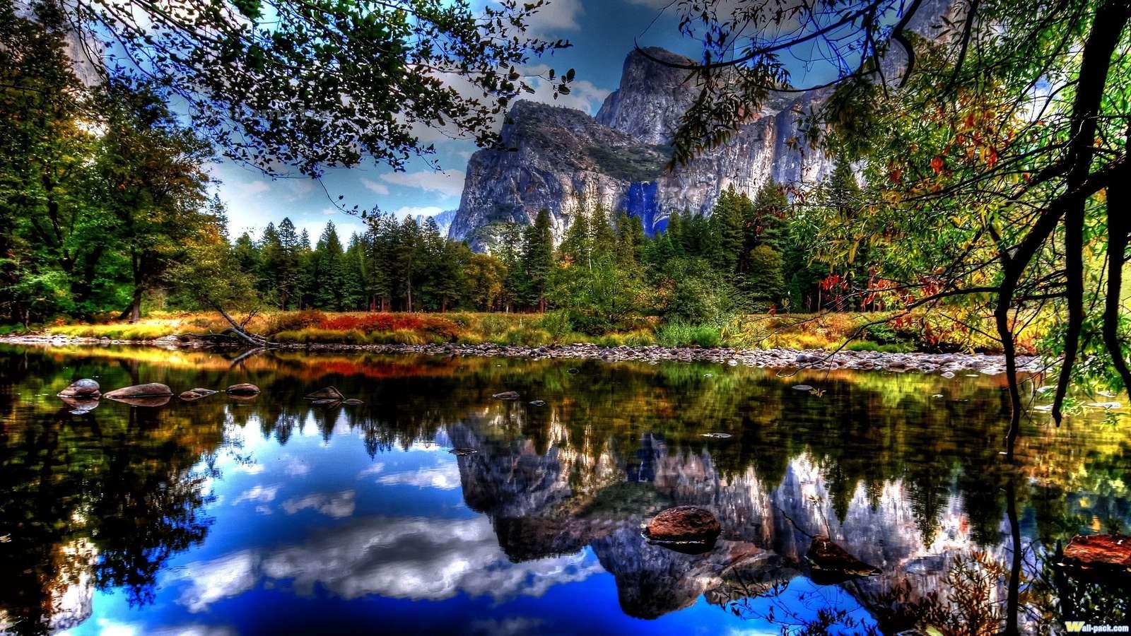 Krajobraz Górski - Górki krajobraz jeziora woda.