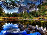 Mountain landscape - Landscape of a lake with water in the mountains.