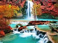 Modrý vodopád