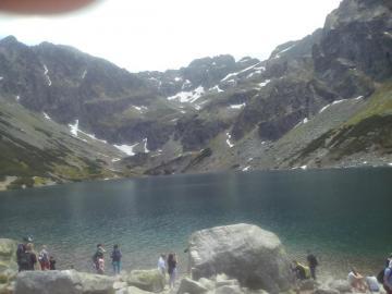 Tatry Staw Gąsiennicowy - piękny widok NIE WSKAKUJ DO KĄPANIA