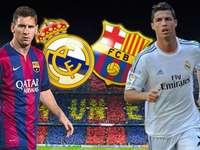 Messi och Ronaldo - färgglada pussel