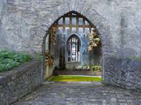 In a medieval castle. - Entrance to the medieval castle.