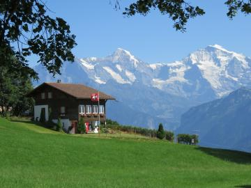 Switzerland. - Switzerland. Panorama of the Alps.