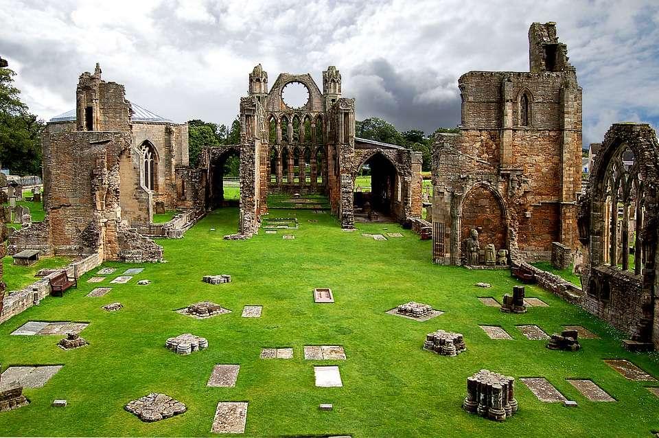 Ruinen der Elgin-Kathedrale.