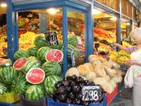 színes piac - színes, egzotikus piac, valószínűleg Törökországban