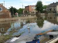 Overstroming in Sandomierz.