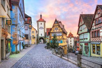 Colorful Rothenburg. - The town of Rothenburg in Bavaria.