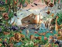 Ark van Noach 6x6 - Noah's Ark en dieren