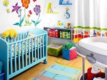 Pokój niemowlaka - Kolorowy pokój niemowlaka.