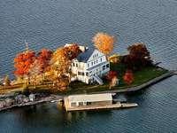 Maison sur l'île.