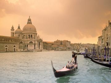 Venice lagoon - in gondola for Venice