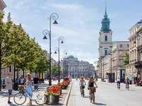 Varsóvia. - Krakowskie Przedmieście em Varsóvia.