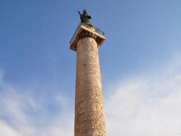 Trajan's Column - Colonna Traiana, raised in the 2nd century AD