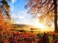 Mlha na polích. - Podzimní mlha nad poli.