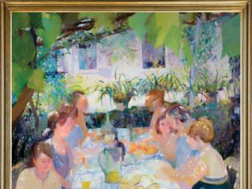 Un repas en plein air - reproduction de l'image d'Ann Patrick