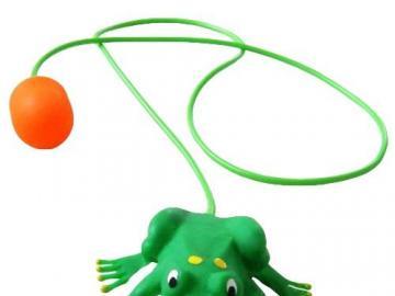 skacząca żabka - skacząca żabka---- zabawka
