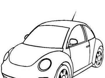 nowy chrząszcz - pojazd nowy chrząszcz niebieski samochód
