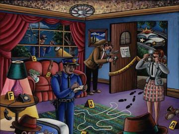 scène de crime - scène de crime à reconstruire