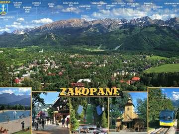 Um cartão postal de Zakopane. - Um cartão postal de Zakopane.