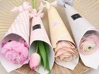 Pastel flowers - Pastel flowers beautiful, white roses