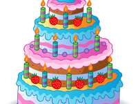 födelsedagstårta - födelsedagstårta ritning