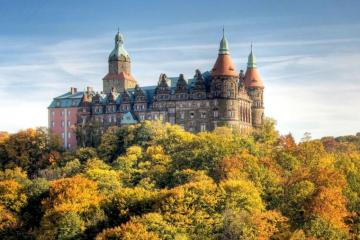 Książ Castle - Książ castle in the autumn edition