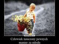 příroda sama - příroda sama - chlapec s kyticí