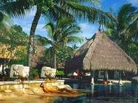 Hotel auf Bali.