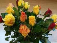florets - Roses in a vase