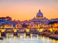 Soirée sur Rome. - Soirée sur Rome.